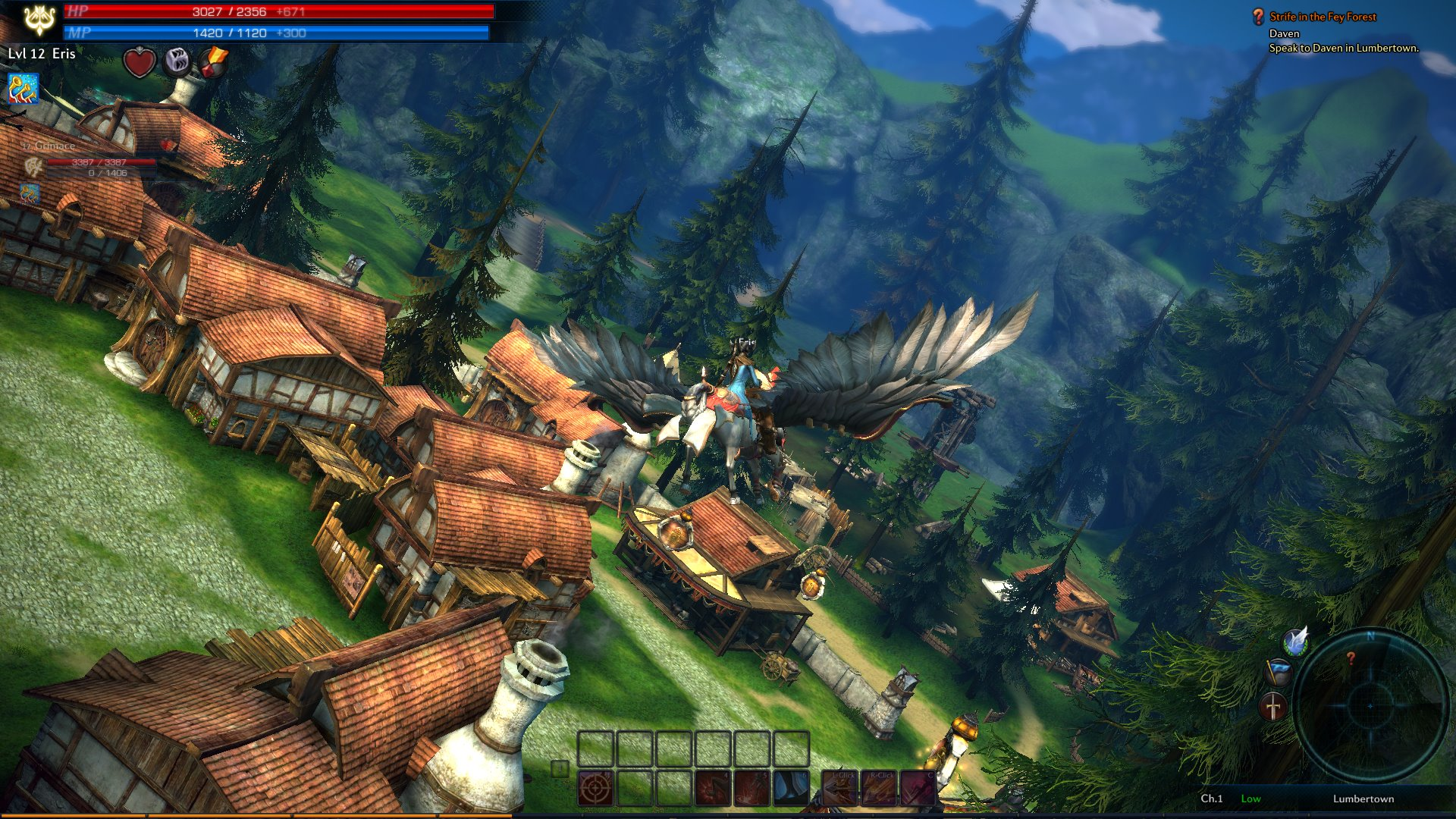 TERA-MMO-game-flying