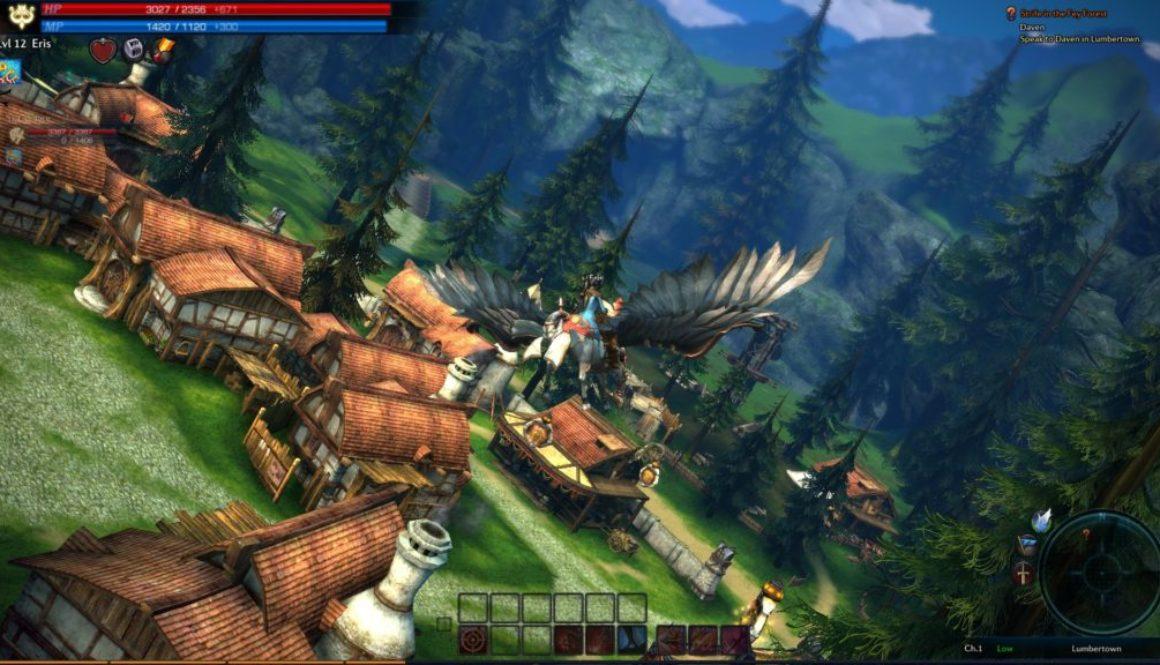 TERA-MMO-game-flying